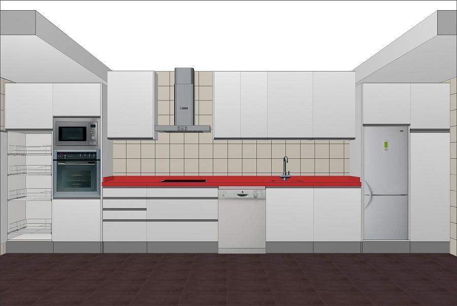 Plano de una cocina excellent tipos de cocinas with plano for Planos de gabinetes de cocina