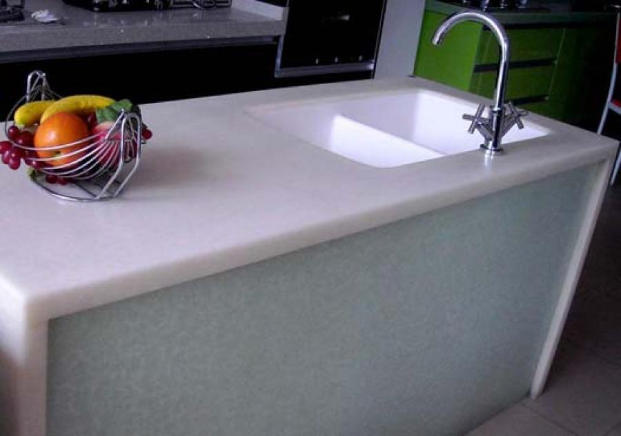 Pintura para encimeras de cocina de estilo de amarillo for Pintura color marmol
